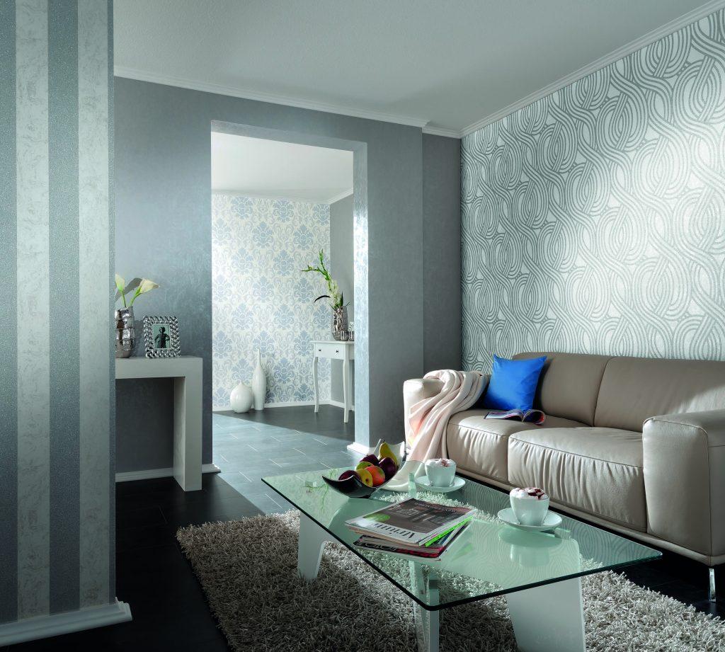Ambientes decorados mundo do papel de parede - Papel decorado para paredes ...