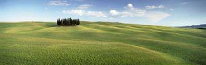 Meditativ ist der Ausblick auf die sanften Hügel der Toscana