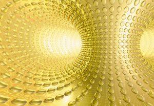 Fototapete 'Lounge' von Komar. Tunnel Abstrakt Größe 368 x 254 cm.