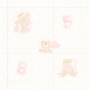 Papel Pesponto e Ursos Rosa Urso Xadrez