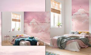 paine-fotografico-nuvens-rosa