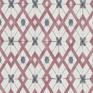 Papel de parede azulejo vermelho 6366-06