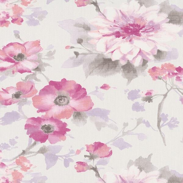 Papel de Parede flores rosa 10051-05