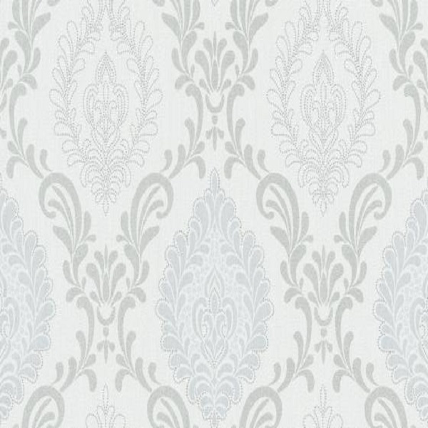 Papel de parede arabesco cinza claro 10030-10