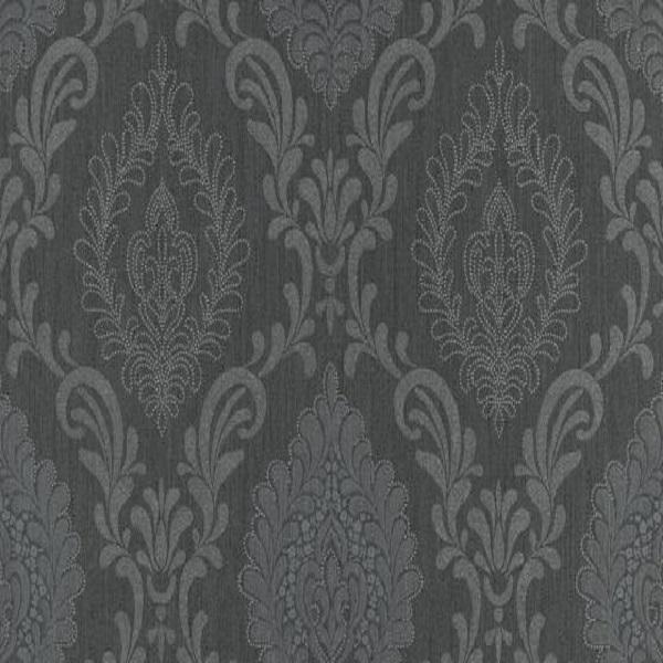 Papel de parede arabesco preto 10030-15