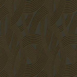 Papel de parede argola preto marrom 6390-15