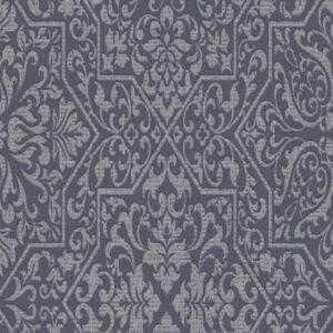 Papel de parede azulejo preto 10024-15