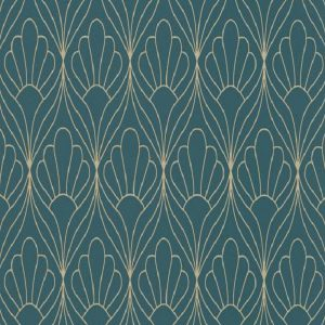 Papel de parede conchas azul 6389-08