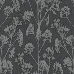 Papel de parede flor dente de leao preto 10029-15