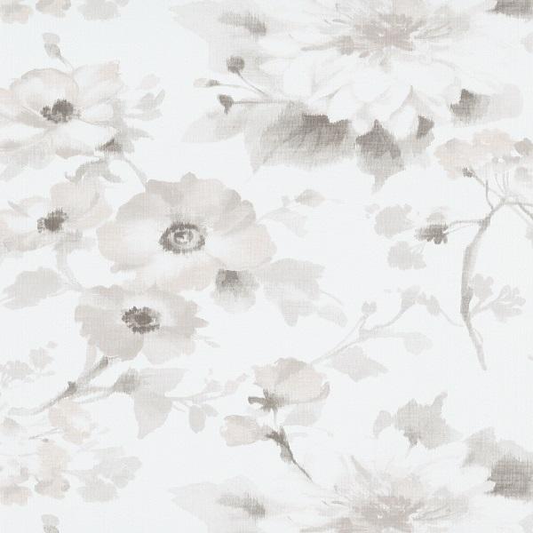 Papel de parede florido Bege claro 10051-31
