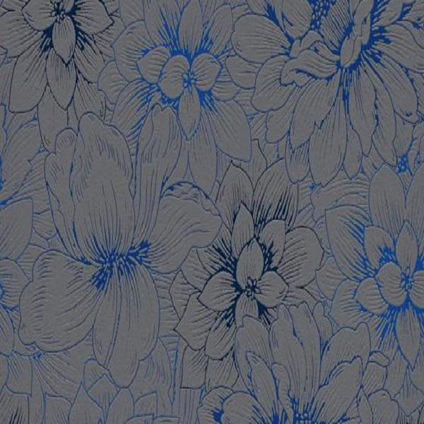 Papel de parede florido azul cinza 5425-15