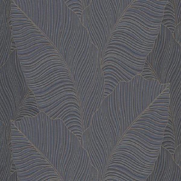 Papel de parede folha bananeira preto 10021-47