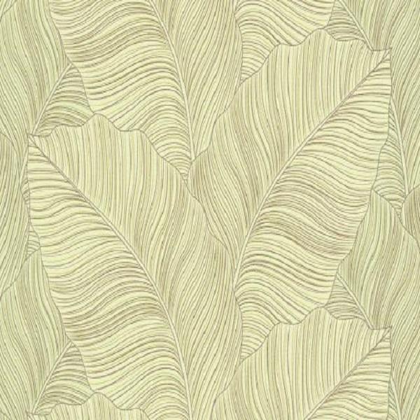 Papel de parede folha bananeira verde 10021-07