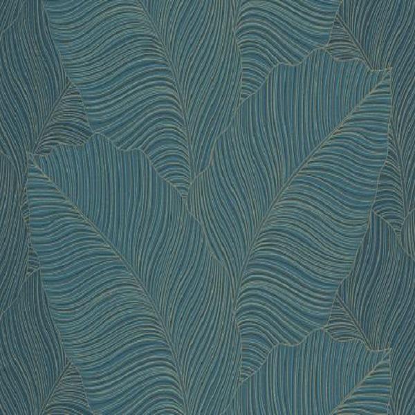 Papel de parede folha palmeira Azul escuro 10021-36