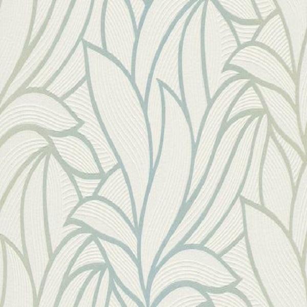 Papel de parede folhado gradiente verde 10023-18