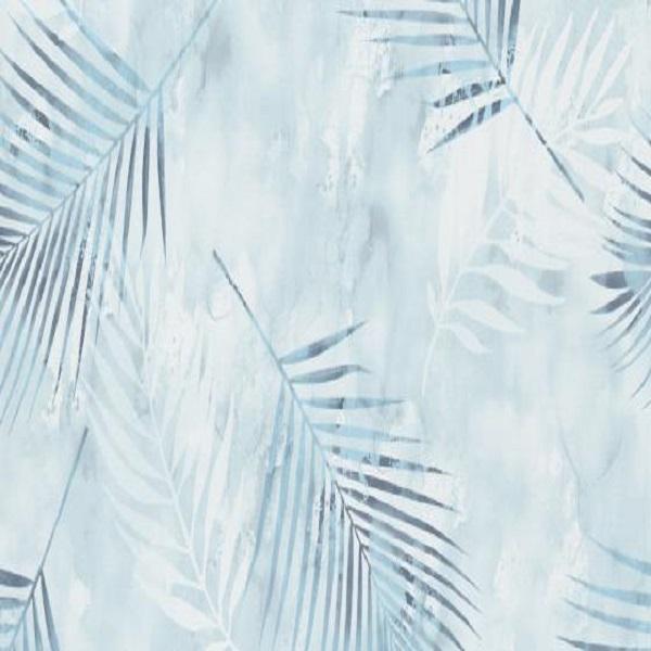 Papel de parede folhas palmeira azul 02579-20