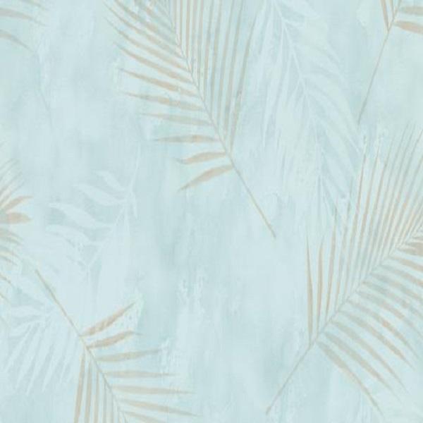 Papel de parede folhas palmeira azul claro 02579-18