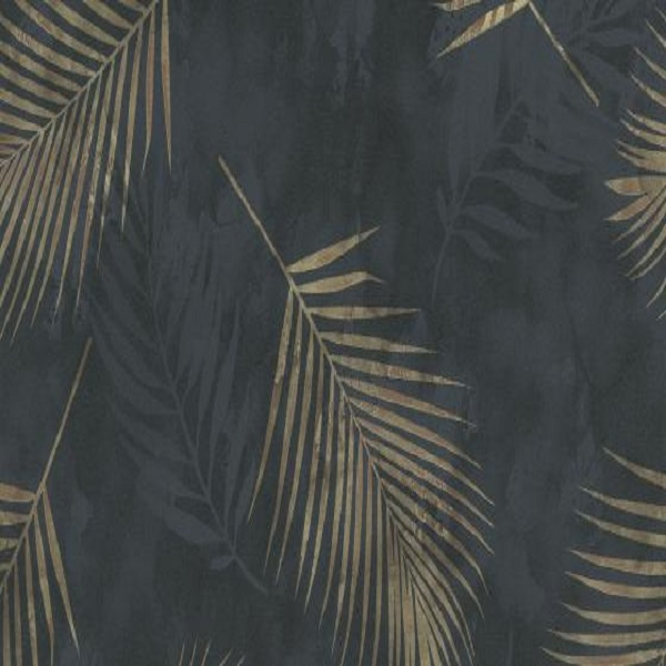 Papel de parede folhas palmeira dourada 02579-40