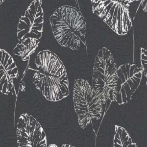 Papel de parede folhas preto 5426-15