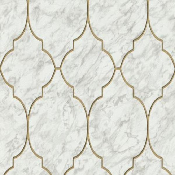 Papel de parede geometrico branco 6391-10