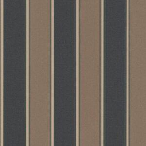 Papel de parede listrado marrom preto 6377-11