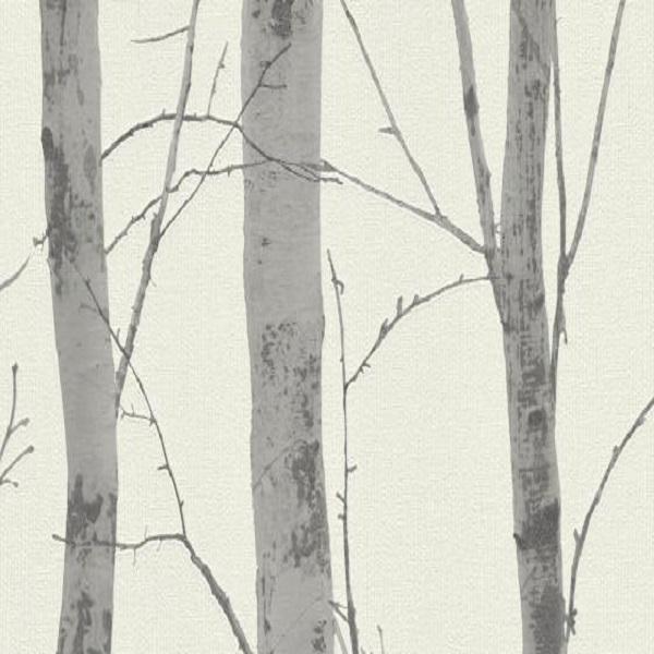 Papel de parede troncos cinza 5433-47